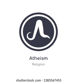 atheism icon. isolated atheism icon vector illustration from religion collection. editable sing symbol can be use for web site and mobile app