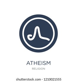 atheism icon. Trendy flat vector atheism icon on white background from Religion collection, vector illustration can be use for web and mobile, eps10