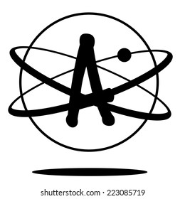 Atheism symbol EPS 10 vector