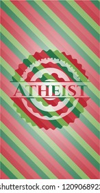 Atheist christmas emblem.