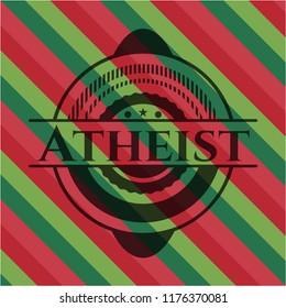 Atheist christmas style emblem.
