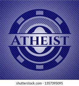 Atheist denim background