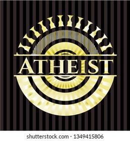 Atheist gold emblem