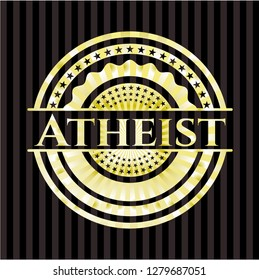 Atheist gold shiny emblem