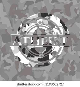 Atheist grey camo emblem