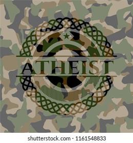 Atheist on camouflage texture