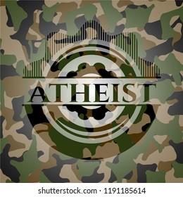 Atheist on camouflaged pattern