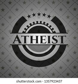 Atheist realistic black emblem