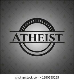 Atheist realistic dark emblem