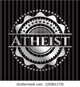 Atheist silvery badge