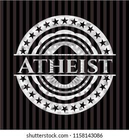 Atheist silvery emblem or badge