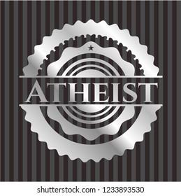 Atheist silvery shiny badge