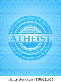 Atheist water wave badge background. Vector Illustration. Detailed.