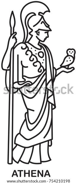 Athena Ancient Greek Goddess Wisdom Craft Royalty Free