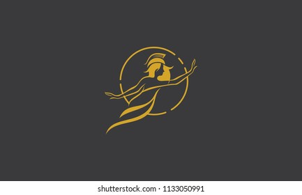 athena health woman logo icon vector