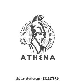 athena logo template