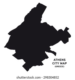 Athens city map vector