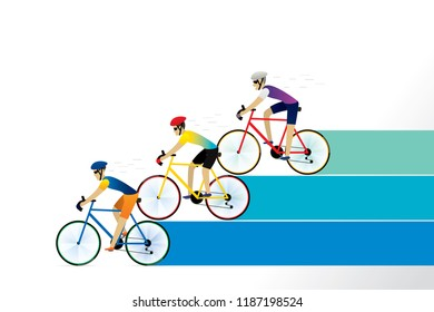 Athlete cyclist background. Vector illustration of cycling race concept