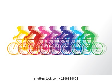 Athlete cyclist background. Vector illustration of cycling sport concept