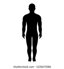 Athlete figure silhouette vector icon isolated on white background