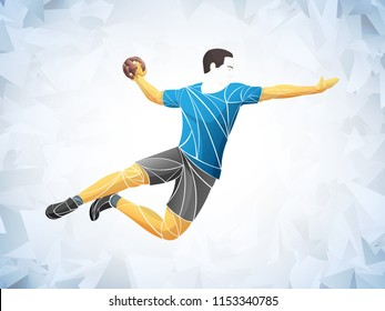 Athlete, handball player sport vector