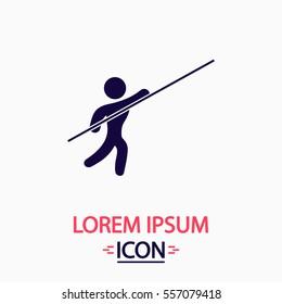 Athlete Icon Vector. Flat simple pictogram on white background. Illustration symbol