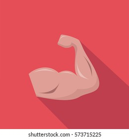 athlete muscles hand red