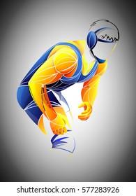 athlete Wrestling vector,