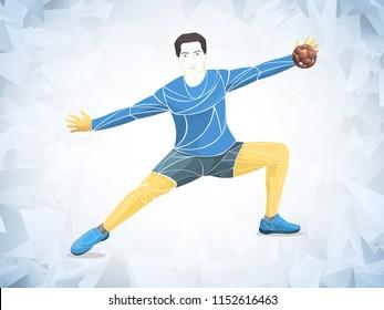 Athlete,goalkeeper handball player sport vector