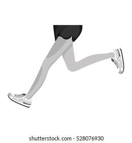 Athletes feet running isolated