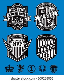 Athletic crest emblems