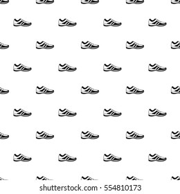 Athletic shoe pattern. Simple illustration of athletic shoe vector pattern for web