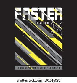 Athletic sport run typography, tee shirt graphics, vectors