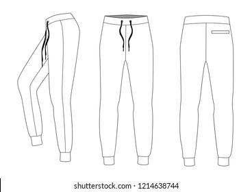 Athletic training pants, vector