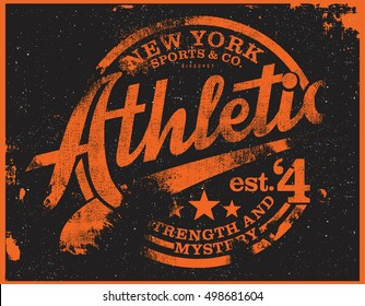 athletic t-shirt  graphic