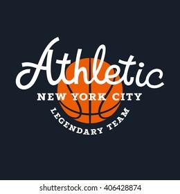 Athletic T-shirt graphics / Sport Typography / Sport Vintage Typography / Basketball Team Emblem
