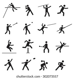 Athletics icon set