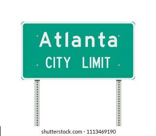 Atlanta City Limit road sign