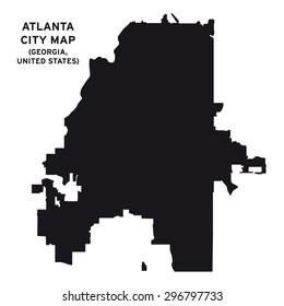 Atlanta city map vector