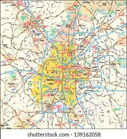 Atlanta, Georgia area map