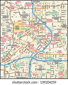 Atlanta, Georgia downtown map