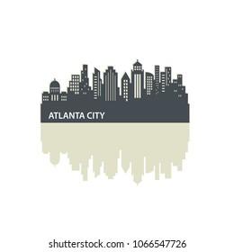 Atlanta Skyline City Logo Vector