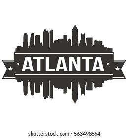 Atlanta Skyline Silhouette Stamp