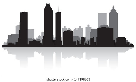 Atlanta USA city skyline silhouette vector illustration