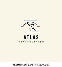 Atlas Construction logo design inspiration
