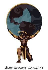 atlas holding the world