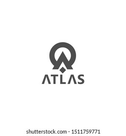 Atlas logo modern initial A illustration-vector