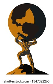 atlas titan holding the globe