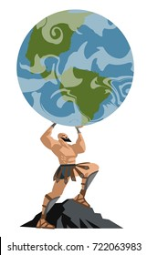 atlas titan holding the globe