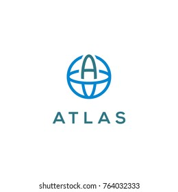 Atlas vector, simple atlas for logo design concept